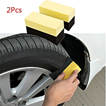 AfricanmallDN store  2Pcs Auto Wheels Brush Sponge Tools Applicator Special For Tire Hub Cleaning -Black