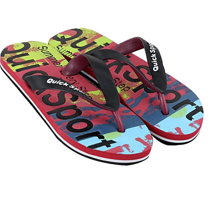 fe427c4c9d5ee1 birthpar store Men letters Beach Shoes Flip Flops Flat Slides Flip Flops  Slippers Home Sandals-