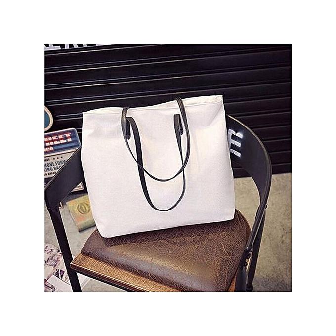 17b540d219 Women Ladies Canvas Handbag Shoulder Large Shopping Bag Tote Purse Clutch  HOT