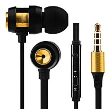 Olivaren Super Bass Stereo In-Ear Earphone Sport Headset With Headphone For Iphone7 GD -gold