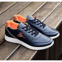 Men's Korean Sport Sneaker Shoes-Navy Blue