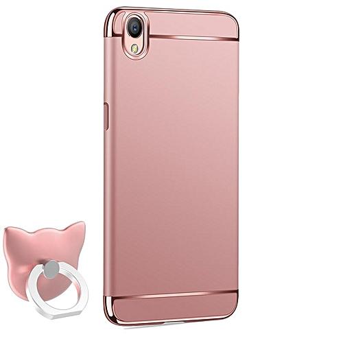 best loved 9602f e1624 For OPPO A37 Phone Case + Finger Ring Holder/ Luxury Chromed 3in1 Hybrid  Armor Shockproof Phone Shell Hard PC Back Case /OPPO A37 Anti-falling ...