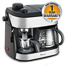 RM/273-Twin Coffee Cappuccino Maker- Black