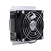 12V 6A Thermoelectric Peltier Refrigeration Cooling System Kit Cooler Fan DIY - Black