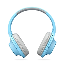 Bluetooth Foldable Headphone 40mm Heavy Bass FM Mode Excellent Apperence - Windsor Blue