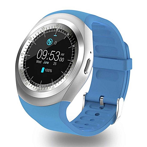 Y1 Round Nano SIM Card Fitness Tracker Smartband Smart Watch, with Whatsapp  Facebook, Support Pedometer / Sleep Monitor / Music Control / Remote