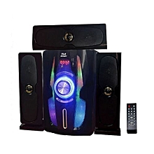 DC33V 3.1 Channel Bluetooth USB FM Subwoofer Multimedia Speaker 10000W - Black