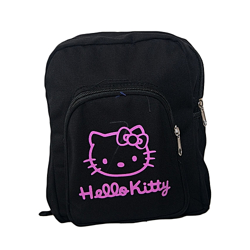 c5e92b2d2e Jutiti Trendz Black Canvas Designer School Bag With Pink Hello Kitty Pattern