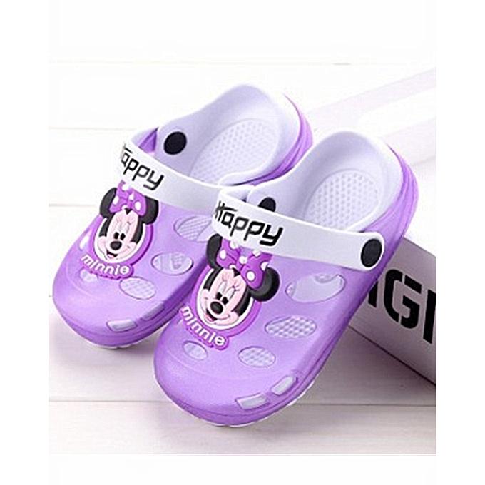 98780a7662c2 Kids Cartoon Sandals Children Slippers Soft Sole Flip Flops Non-slip Hollow  Beach Shoes Outdoor