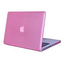 """13"""" Pro With CD-ROM Case, Matt Hard Rubberized Cover For 2008-2012 Macbook Pro 13.3 Inch, Pink"""