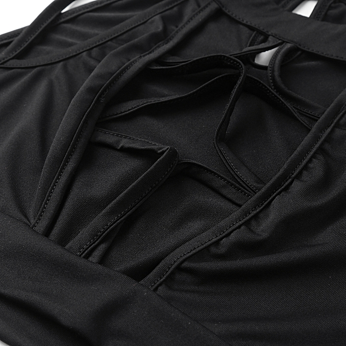 3d29a31d6909 ... Sexy Women 2 Piece Outfits Turtleneck Sleeveless Hollow out High Split  Clubwear Romper Jumpsuit Black ...