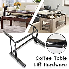 Black Coffee Table Lift Top DIY Hardware Fitting Furniture Mechanism Hinge Frame
