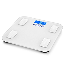 INLIFE Electronic Digital Weight Scale QHC with Bluetooth LCD Display WHITE