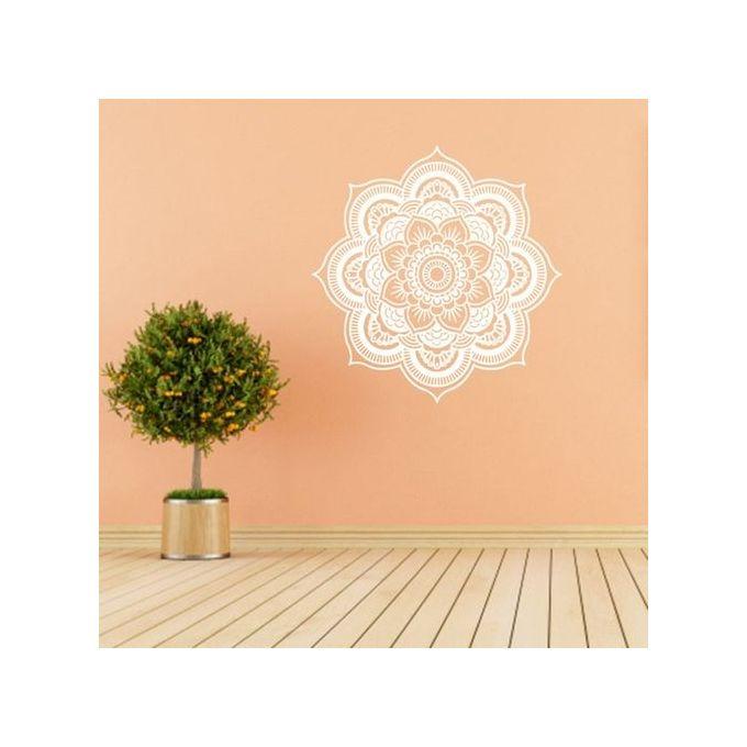 Generic Modern Home Living Room Decorative Wall Sticker 57 57cm Flower Diy Sticker White Buy