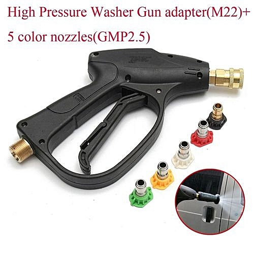 Pressure Washer Gun >> Universal High Pressure Washer Gun Lance Water Spray Nozzle Tips