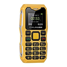 MELROSE S10 1.0 Inch 450mAh Bluetooth Smallest MP3 Music Phone Shockproof Feature Phone Yellow