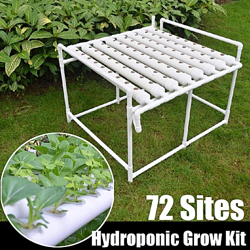 Hydroponic Site Grow Kit 72 Sites Plant Deep Water Garden System Vegetable  Tool