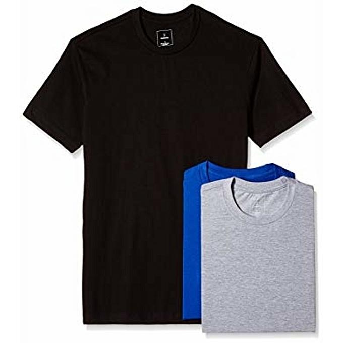 Three pack tshirts blue, black,grey