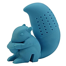 Squirrel Tea Infuser Loose Leaf Strainer Herbal Spice Silicone Filter Diffuser Sky Blue