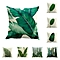 Tropical plant green leaf linen Pillow Cover