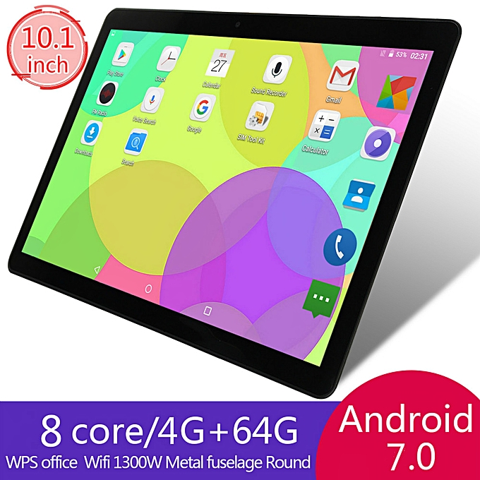 64GB+4G Android 7 0 Tablet PC Octa 8 Core HD WIFI Bluetooth 2 SIM 4G 10 1''  Hot