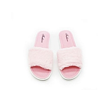 bc4e07f62741 Women Winter Plush Anti-slip Warm Indoor Shoes Bedroom Slippers - Pink