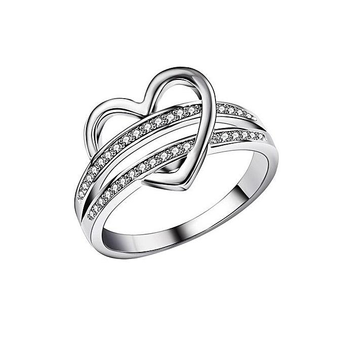 Buy Universal Fashion Simple Heart Shape Ring Leisure Elegant Couple