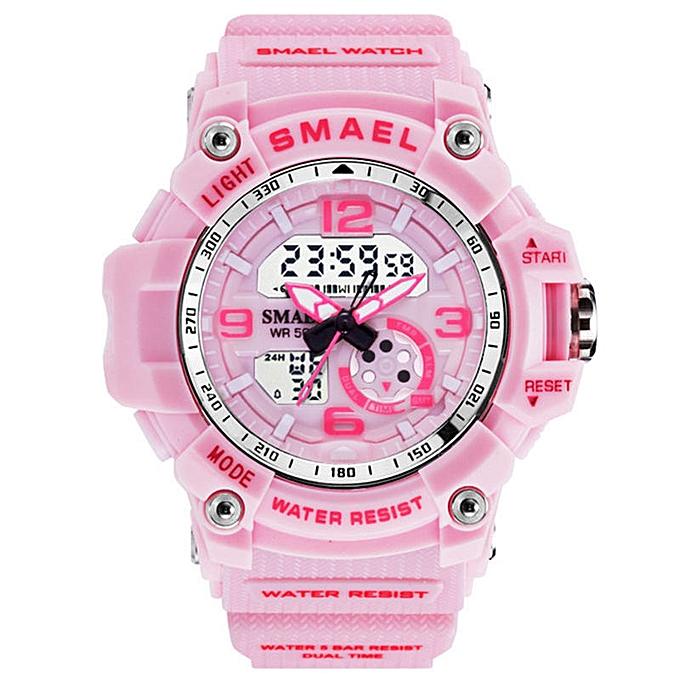 Top Luxury Brand Watches men Sport Casual Analog Quartz Clock Kids Watch  Women Waterproof Digital Watch Relogio Masculino(pink)