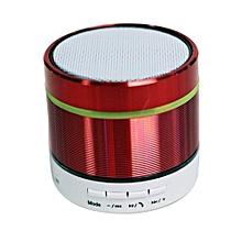 Mini Bluetooth Speaker, S07D Mini Wireless Boombox Stereo Speaker Amplifier Portable Super Bass Handsfree Speaker LED Light(Red)