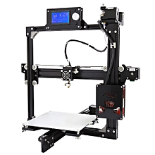 A2 Plus Aluminum Metal 3D Three-dimensional DIY Printer with TF Card Off-line Printing/Optional LCD Display - Black