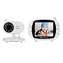 3.5 inch 2.4GHz Wireless TFT LCD Video Baby Monitor with Night Vision - White
