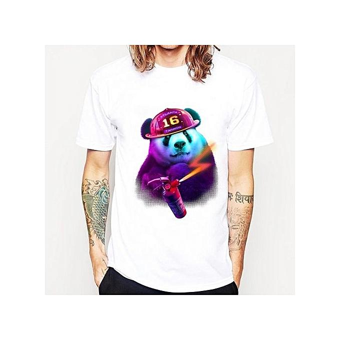 New Arrivals 2017 Men s Fashion Purple Fat Panda Printed T Shirt Funny  Animal Tee Shirts Hipster 9ae177ed9960