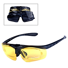 Obaolay Outdoor Cycling Protection Sports Sunglasses With 4pcs Lens