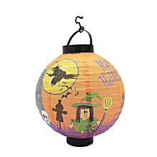 Vintage Halloween Festival Party Decor LED Pumpkin Spider DIY Paper Lantern