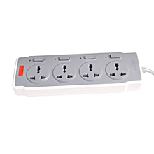 Power Extension with Separate Switches - Grey and White