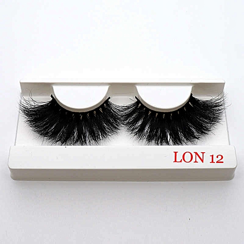 7a7595a7032 Generic 1pair 100% Real 5D Mink Fur 25mm False Eyelashes Thick Long Messy  Cross Eye Lashes Extension Eye Makeup Tools(11)