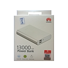 13000mAh - Slim Portable Powerbank - Silver