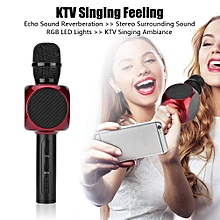 Bluetooth Microphone Noise Cancelling Wireless Microphone Echo Reverberation Microphone - Red