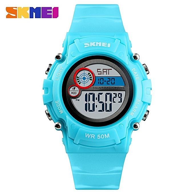 NEW Kids Watch Fashion Waterproof Plastic Case Alarm Wristwatch Boys Girls  Digital Children Watches
