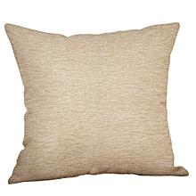 Green Lime Natural Cream Cotton Linen Pillow Case Sofa Cushion Cover Home Decor