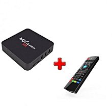 Pro Smart 4K Android TV Box + Air Mouse/ Wireless Keyboard - Black