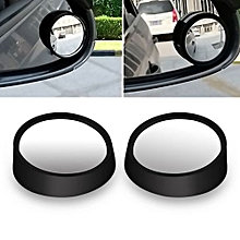 2 Pcs Universal Car Van Blind Spot Mirror Adjustable Driving Mirrors For Reversing Rear