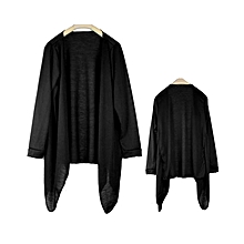 Women's Modal Open Front Shawl Top Free Size Black