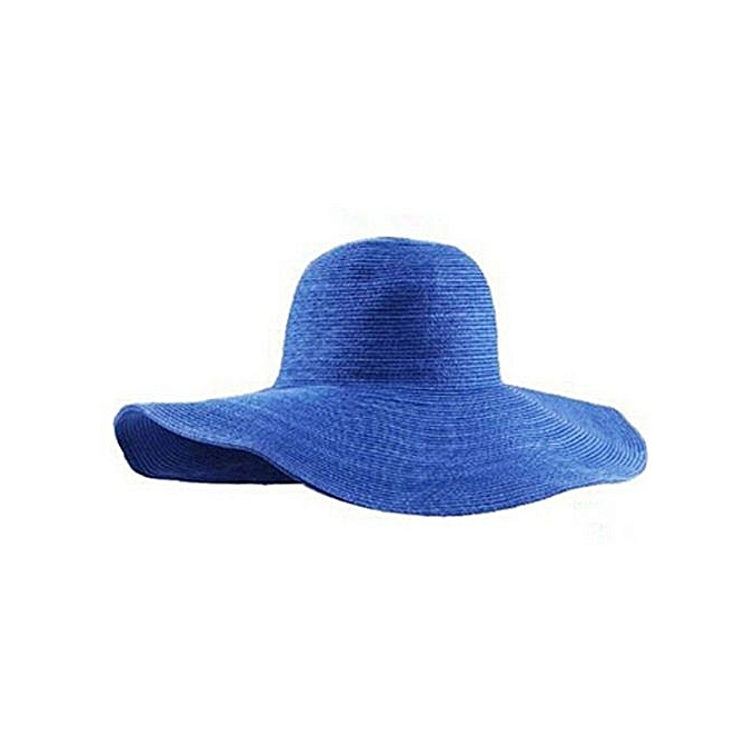4e0df5222fc Summer Women Foldable Wide Large Brim Floppy Beach Hat Sun Straw Hat RB
