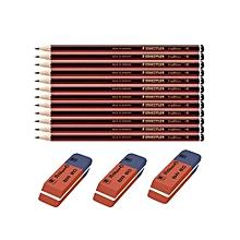 HB110 Pencil Dz - 12 Pieces + 3 Rubbers