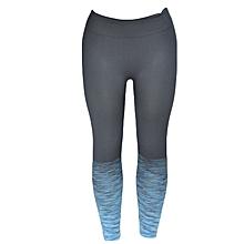 Grey/Blue Striped Gym Leggings