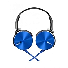 Bundle Of Extra Bass Headphones - Blue And Silver Bracelet
