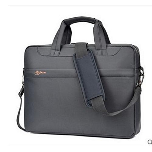 575611c1b52 Generic 14 inch laptop bag tablet bag men s business shoulder briefcase-grey
