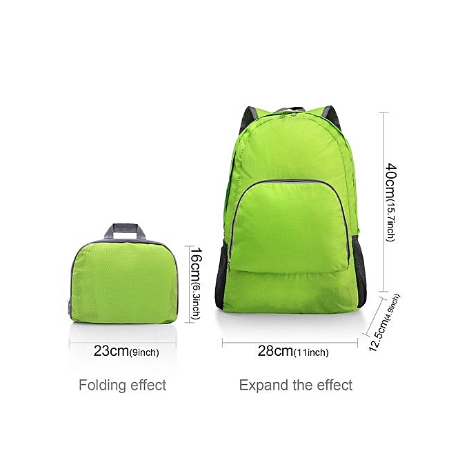 887dfa431b Lightweight Portable Backpack Foldable Durable Travel Hiking Backpack  Daypack - Green