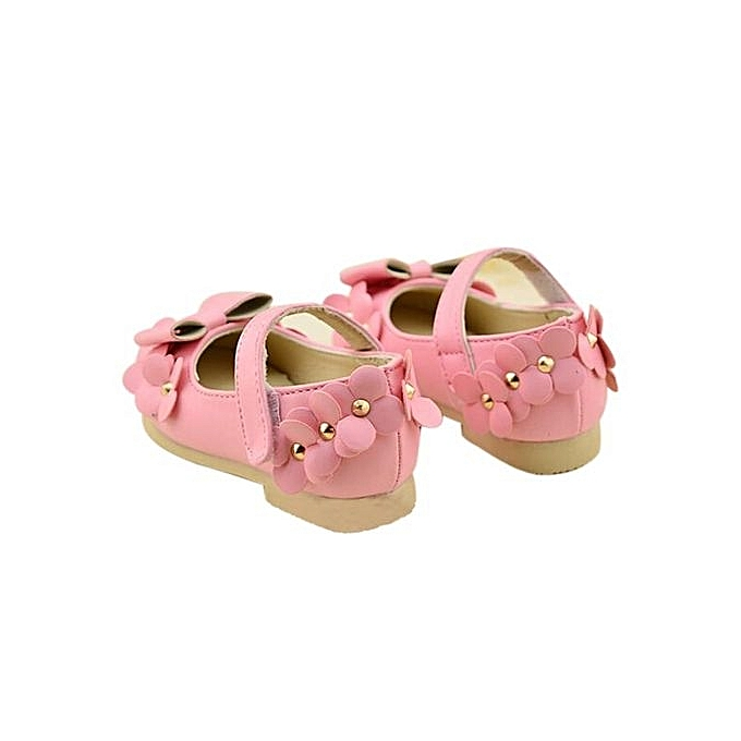 a505dc45275f ... Baby Girls Flats Toddler Cozy Pretty Flowers Dress Shoes Ball Gown  Sandals PK - Pink